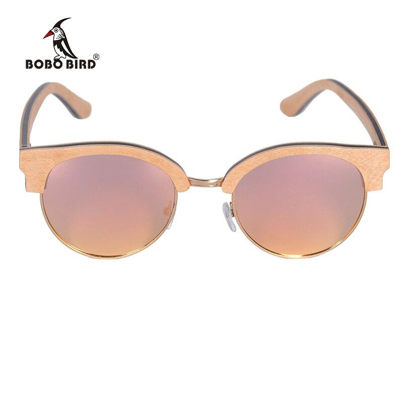 BOBO BIRD Wood Sunglasses Women Polarized Retro Sun Glasses UV400 Summer Eye Wear Customized Logo Engraved OEM Dropshipping