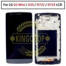 עבור LG G3 מיני LCD תצוגה עם מסגרת Digitizer החלפה עבור LG G3 S LCD מסך G3S D722 D724 מגע מסך LCD
