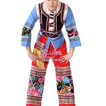 ZZB047 Ethnic minority dance wear men Miao ethnic