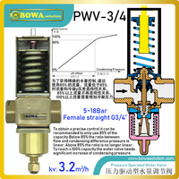 Pressure controlled water valve are installed in water pipeline of  water cooled condenser of cryogenic equipments or freezer