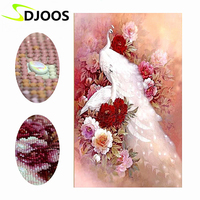 Picture Of Crystals Mosaic Pattern Diamond Embroidery Kit Special Shaped Peacock Animal 5d Diy Embroidery With