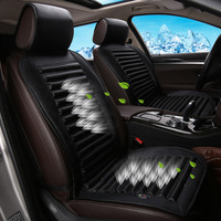Cold Air Circulation Built In Eco Friendly Fan Car Cushion Ventilation Car Seat Cover Natural Wind