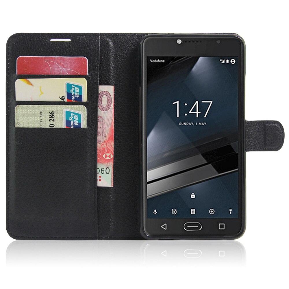 CYBORIS para Vodafone Inteligente Ultra 7 Caso Caja Del Teléfono de Cuero para V
