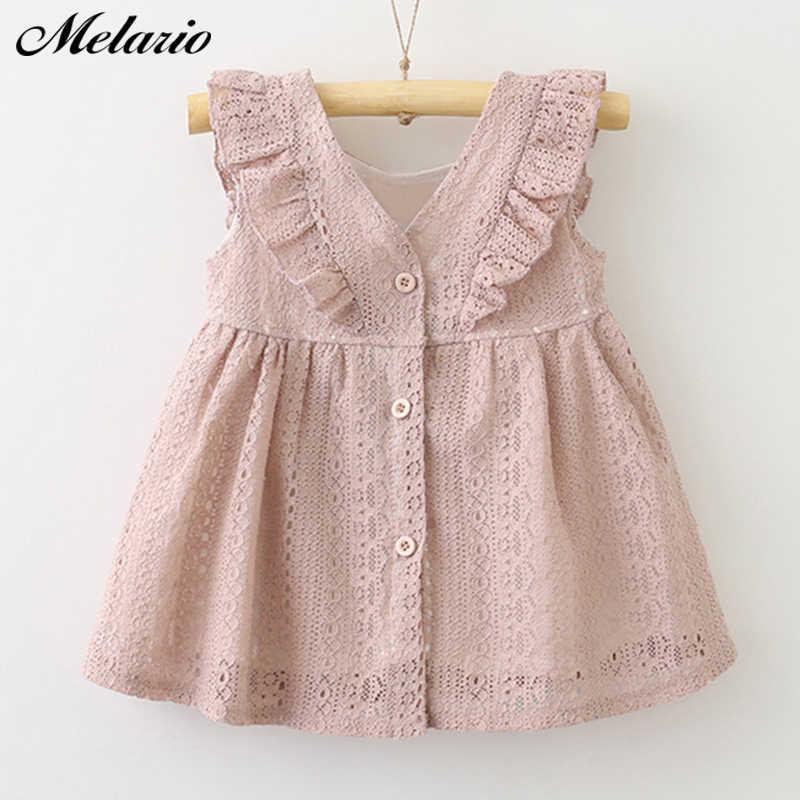 Платье для девочек; коллекция 2019 года; летнее стильное кружевное платье для девочек; повседневные платья для маленьких девочек; детская одежда; одежда для маленьких девочек