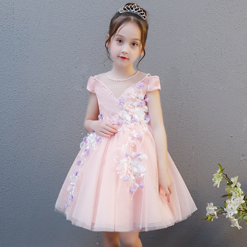 где купить summer Elegant Girl Birthday Wedding Party Princess Dress Toddler baby Kids Christmas Clothes Children Flowers pageant Dresses по лучшей цене