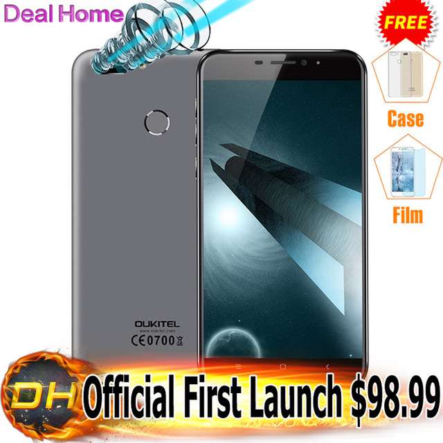 "$10 Gifts Original Oukitel U20 Plus Dual Camera Mobile phone 4G LTE Android 6.0 5.5"" FHD MTK6737T Quad Core Fingerprint ID 13MP"