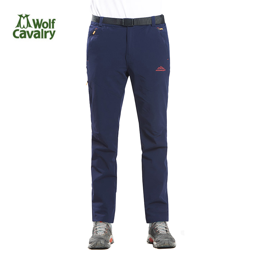 где купить CavalryWolf New Men Women Quick Dry Breathable Pants Summer Outdoor Elastic Hiking Camping Trekking Fishing Pants Trousers MA177 дешево