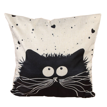 45cm*45cm Cartoon Decorative Pillowcase Cat Pillow Case Married Couples Kitten Cushion Cover Linen