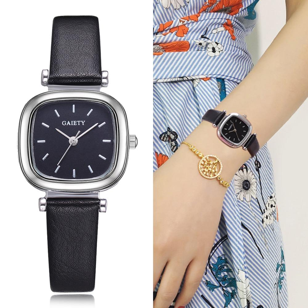 Веселость просто смотреть Для женщин Нержавеющаясталь сетки площади минималистский часы Super Slim моды Повседневное женские часы для женски...