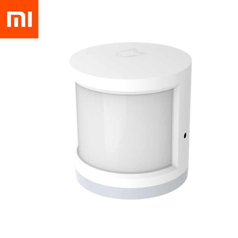 Oryginalny Xiao mi mi jia człowieka inteligentny czujnik mi ciała czujnik IR mi jia czujnik inteligentnego domu WiFi aplikacja na Android i iOS kontroli