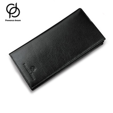 PROVENCE DREAM Top Cowhide Leather Men's Long Wallet Clutch Wrist bag black wallets and purses card holder PD21