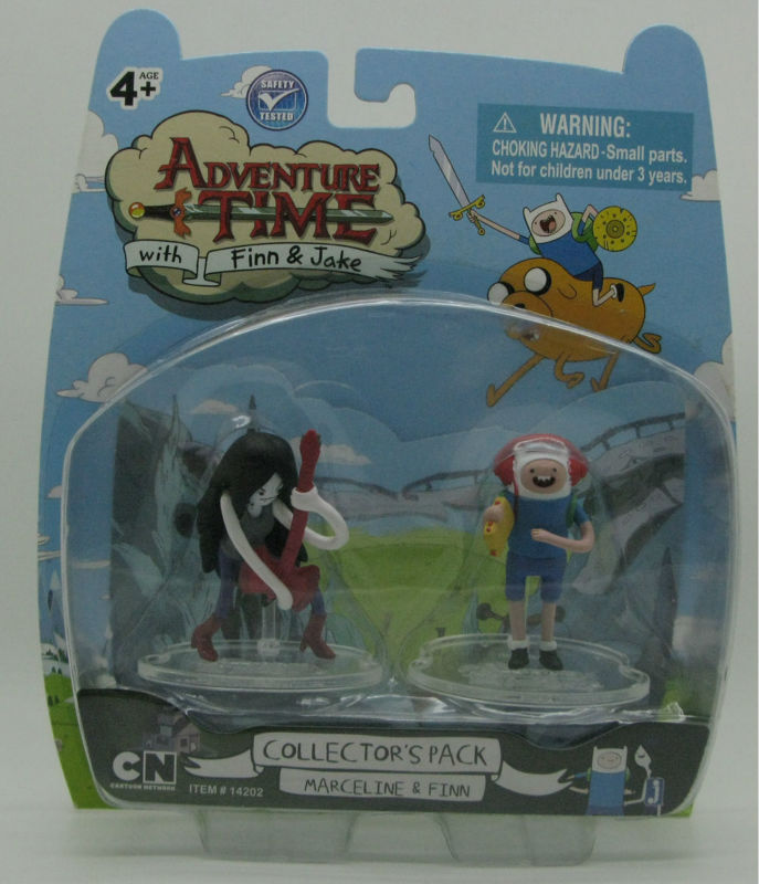 JAZWARES NEW Adventure Time marceline & finn 2 inch action figure collector pack children animation toy
