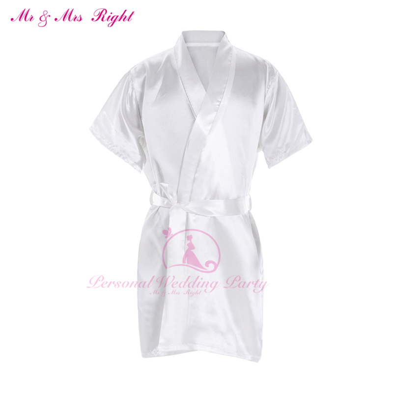 2ae9862bc3 New Summer Special Section Solid White Robes Customizable Flower ...
