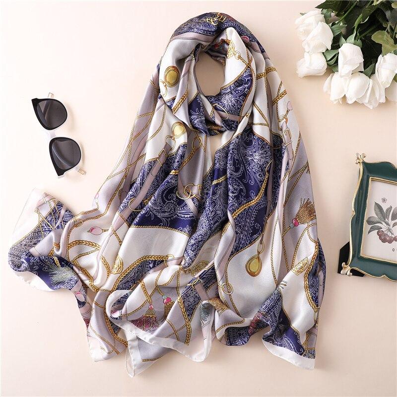 2019 Fashion silk scarf large pashmina beautiful design high qulity print women's scarves  wraps