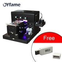 Oyfame a4 impressora uv para caso de telefone couro placa de pvc placa de acrílico placa de metal de madeira com acro 9.0 rip software Impressoras Computador e Escritório -
