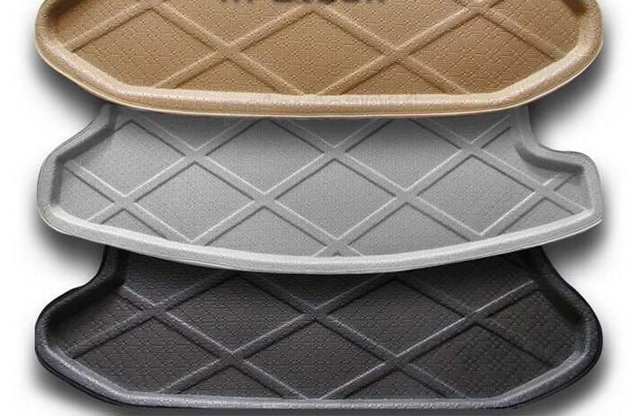 ФОТО high quality Rubber Foam Trunk Tray Liner Cargo Mat Floor Protector foot pad mats for VW Volkswagen Tiguan 2013 2014(3colors)