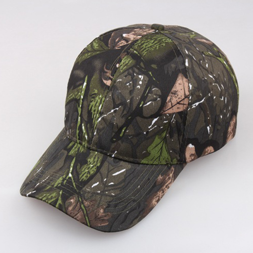 Sun Block Outdoor Peaked Jungle   Cap     Baseball   Female/Male Hunting Summer Camouflage