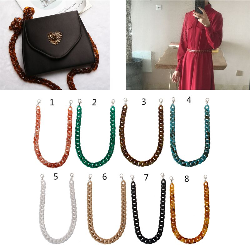 1 PC 60cm Detachable Replacement Shoulder Strap Bag Fish Bone Acrylic Resin Handbag Chain Strap Bands Bag Accessories