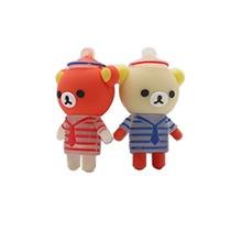 Wholesale cartoon bear usb flash drive 4GB 8GB 16GB 32GB 64GB pen cute animals memoria stick creative gift pendrive