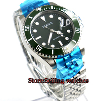 40mm Parnis green dial Jubilee style strap sapphire glass MIYOTA movement automatic Mens Watch