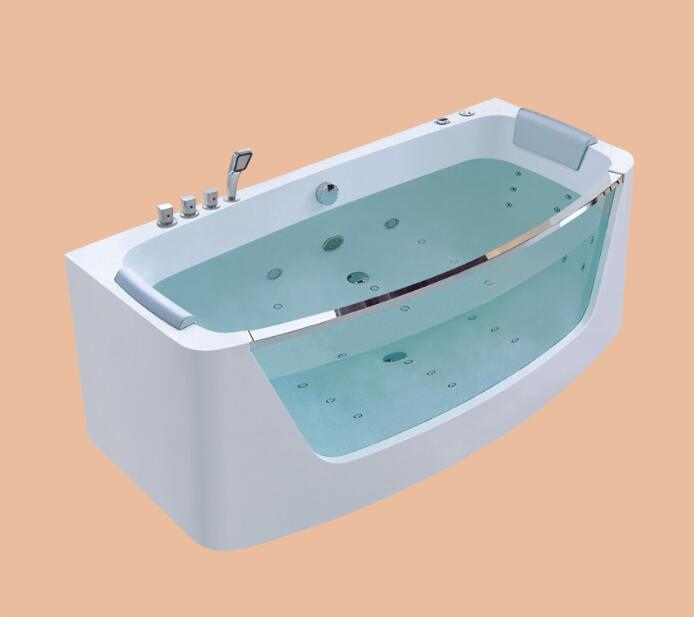 1750mm Long Surfing Whirlpool Bathtub Acrylic Hydromassage Bubble Tub NS1601B