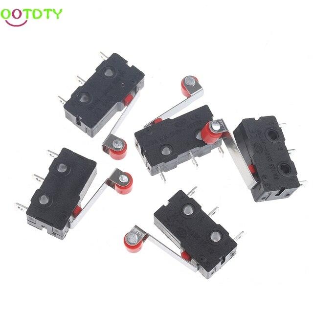 10 pièces/ensemble Mini 3 broches Tact interrupteur KW11-3Z 5A 250 V poignée ronde horloge Microswitch 828 Promotion