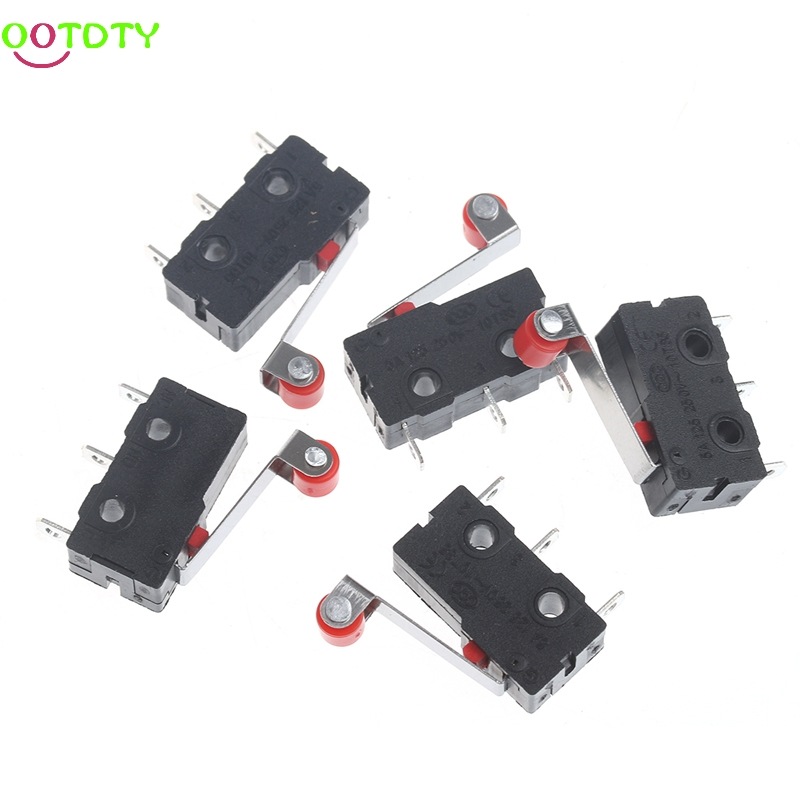 10 pcs NEW Tact Switch 3A 5A 250V Microswitch Round Handle 3PIN