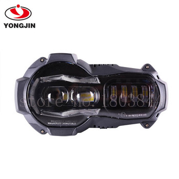 2018 LED Headlight for BMW R1200GS R 1200 GS adv r1200gs lc 2004-2012(fit oil cooler)