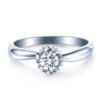 ZHJIASHUN Forever Brilliant Solitaire 1ct Moissanites Diamond Rings Soild 10K White Gold Wedding Rings For Women Jewelry