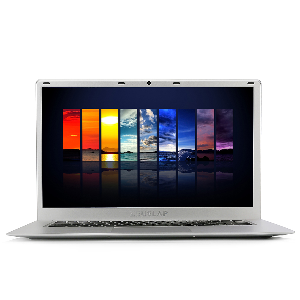 15.6 pouces Ultra-Mince 6 GB Ram 128 GB SSD Intel Quad Core CPU Windows 10 Système Course Rapide Ultrabook Ordinateur Portable Ordinateur portable