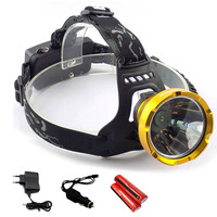 Powerful Led Headlamp Headlight Rechargeable Head Flashlight Lantern Lamp Torch 18650 Battery For Camping Hiking Fishing