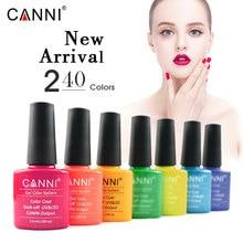 CANNI Gel Lacquer 7.3ML 60 Colors UV Gel Manicure DIY Nail Art Tips Gel Polish Design 60751 Varnish Color soak off led Nail Gel недорого