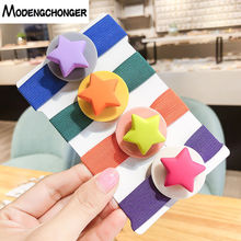 High Elastic Hair Band Candy Colour Tie Star Love Heart Ring Ponytail Holder Scrunchie Gum For Girls Accessories