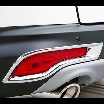 Araba vücut dedektörü ABS krom trim arka kuyruk arka sis lambası lamba çerçevesi sopa parçaları için 2 adet Honda CRV CR-V 2017 2018