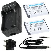 2 Battery + Charger for Fujifilm NP45, NP 45, NP 45, NP 45A, NP 45A, NP 45B, NP 45S Lithium Ion Rechargeable Battery pack