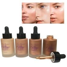 ZD 4 colours face skin lightening liquid care Makeup Professional facial Finish Make Up Liquid Waterproof 30ml New H005A