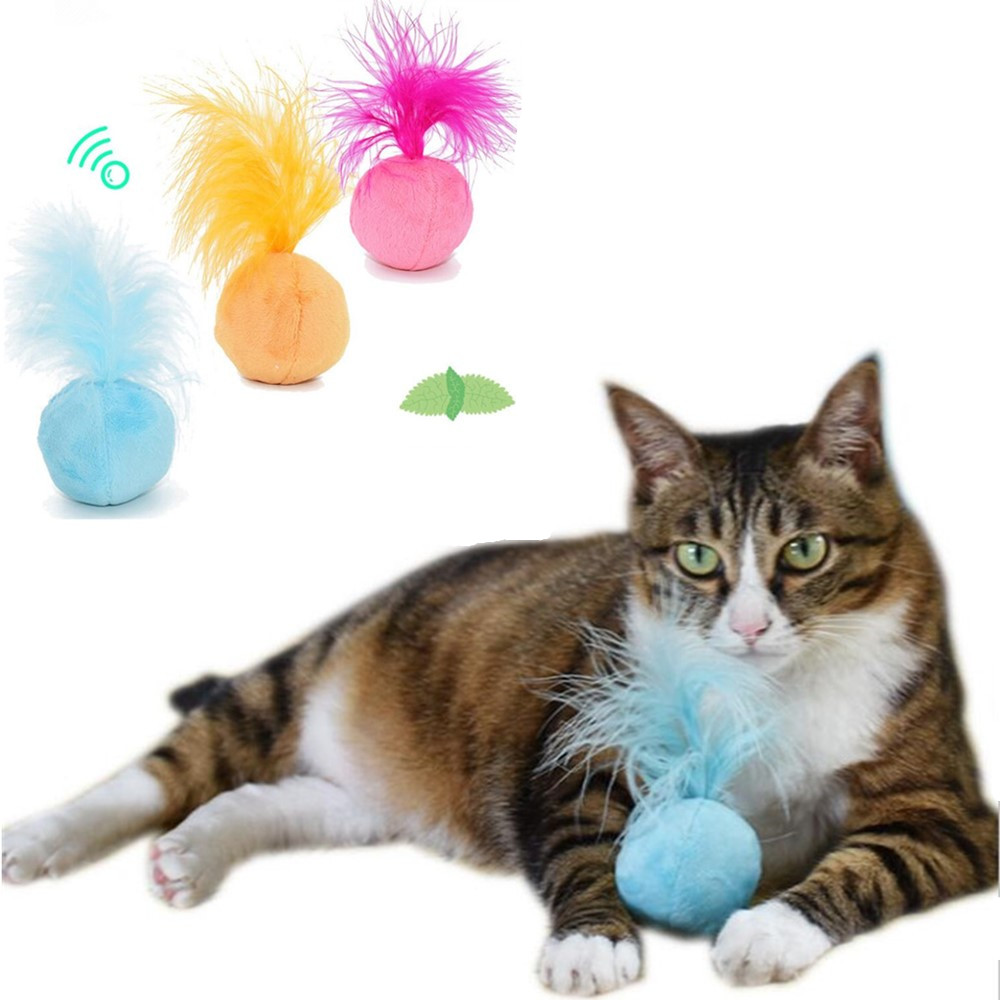 Catnip Cat Toys Sound Ball Hair Ring Bell Teaser Pet Toys For Cat Supplies Kitten Interactive Fun Dog Feather Pet Cat Toy Funny