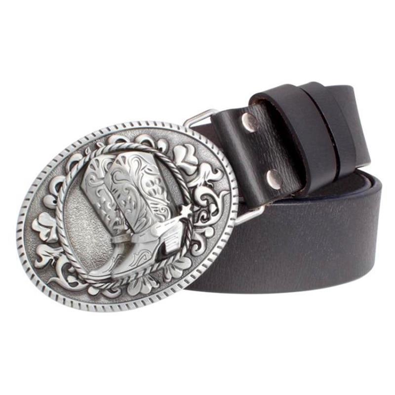 2018 women Genuine Leather   belt   Boots Retro pattern lady cowskin leather   belt   Flower West cowboy   belt   Western style