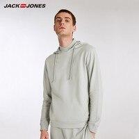 JackJones Men's Elastic Cotton Hoodie Long sleeved T shirt Tops Pajamas Homewear T shirt Fashion Menswear Male 218202501