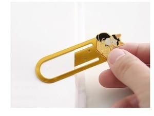 Image 4 - 12 sztuk/partia Metal żelaza zakładki do książek Cute cat zakładki spinacz biurowe akcesoria biurowe szkolne A6130