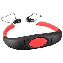Новый IPX8 Водонепроницаемый MP3 для Плавания Беспроводной Спорт Наушники Гарнитуры Шейным Mp3-плеер 4 Г Внутренняя Память