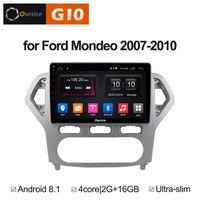 10.1 Inch Android 8.1 Quad 4 Core 2GB RAM+16GB ROM Car DVD Player For Ford Mondeo 2007 2010 GPS Navigation Radio Stereo