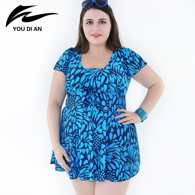 bf2829b3413 2017 Sexy Print Plus Size Swimwear Women Two Pieces Swimsuit Hot Sale  Bathing Suit Beach Tankini Swimming Dress For Women
