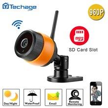 Techage 960 P WIFI Cámara IP 1.3MP Cámara Impermeable del CCTV de Seguridad de Vigilancia de Visión Nocturna de Interior Al Aire Libre Con Ranura Para Tarjeta TF