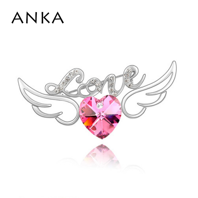 ANKA Direct Selling Fine Jewelry Brooches For wing Brooch Pin Crystal Jewelery Main Stone Crystals from Austria #85173
