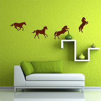 Galloping horse sticker Lovely animal live in your home DIY wall home decor Jungle Forest theme wall sticker for kids room