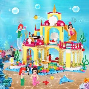 Image 3 - Meisje Speelgoed Vrienden Elsa Anna Ijs Kasteel Paleis Onderzeese Cinderella Kasteel Model Set Legoness Bouwstenen Bakstenen Kid Speelgoed Gift