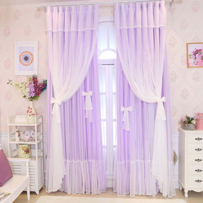 Luxury Solid 3 Colors White Lace Curtains For Living Room Japanese And Korean