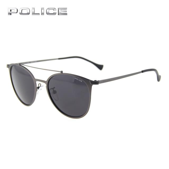7102e45d246 POLICE Aviator Stainless Steel Frame Sunglasses Women Men Brand Designer  Vintage Luxury Pilot Driver Sunglasses UV400 SPL156