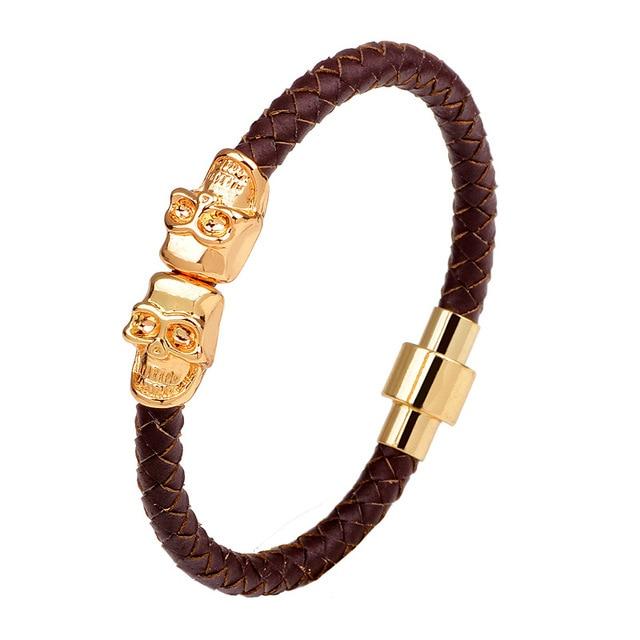 Купить популярные черные кожаные браслеты в стиле панк для женщин ювелирные